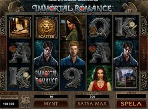 Immortal Romance Slot Spel - Finns nu Gratis Online