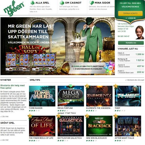 Mr Green är Sveriges bästa spelsajt image