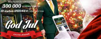 775 free spins i Mr Greens julkalender 2014 image