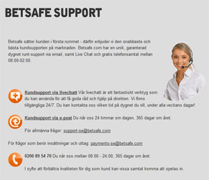 Betsafe support