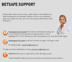 Betsafe support