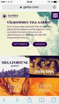 Garbo mobil casino