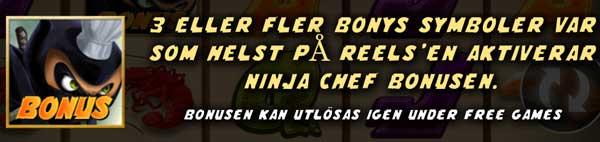Ninja Chef bonusspel