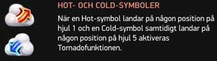 Tornado varm & kall symbol